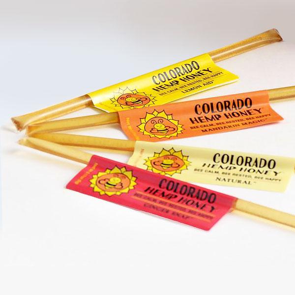 sample sticks of Hemp Honey